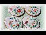( https://vk.com/lakomkavk) Easter egg cookies with Hungarian folk art flowers