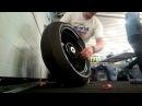 Как заменить колесо на мотоцикле