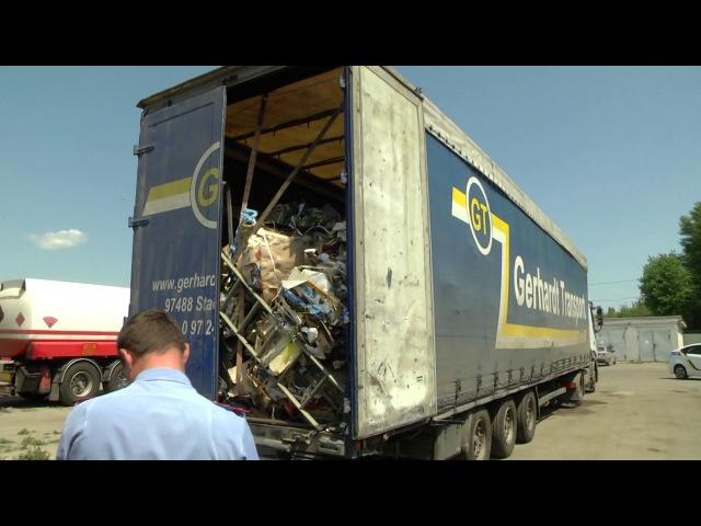 В Черкасах виявлено вантажівку заповнену сміттям