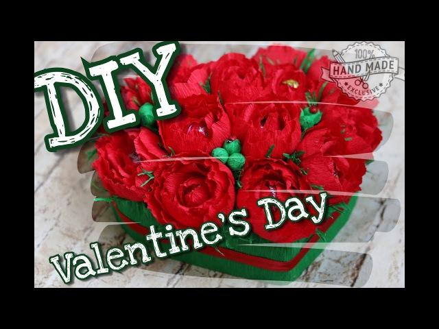 Что подарить на 14 февраля Сердце из конфет Букет сердце DIY Valentine's Day