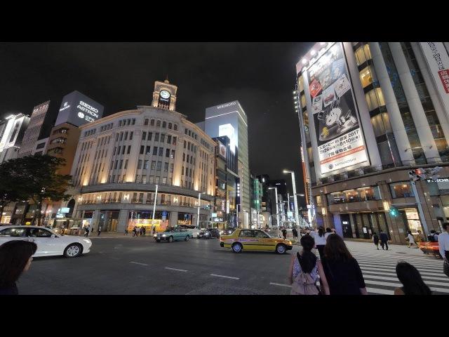 【4K】 night Tokyo Station and Ginza