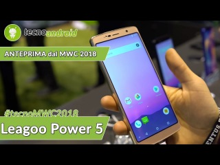 LEAGOO Power 5 на выставке MWC-2018, по-итальянски