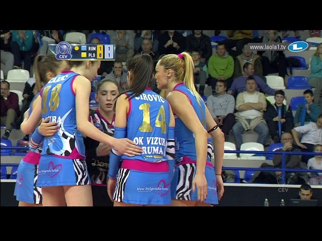 Here comes the BOOM! Katarina Lazovic of Vizura RUMA shocks the defence of Maritza PLOVDIV