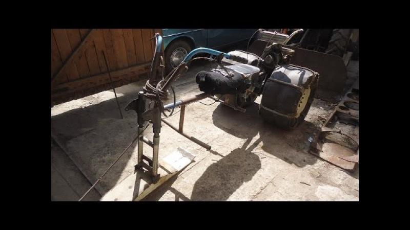 Мотокультеватор Крот,демонтаж снегоходной приставки.
