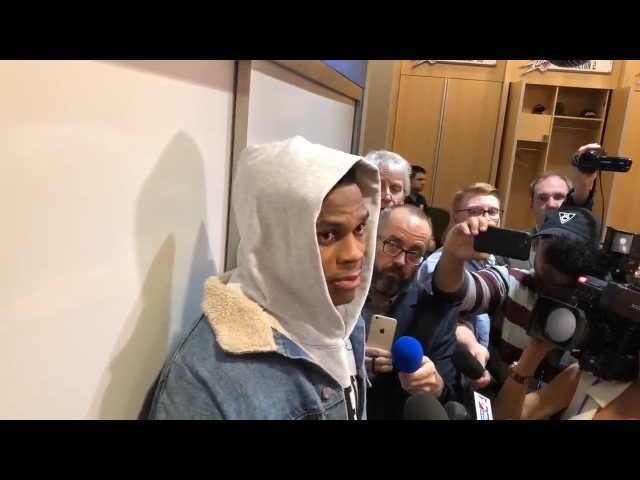 Russell Westbrook Postgame Interview Cavaliers vs Thunder February 13 2018 2017 18 NBA Season