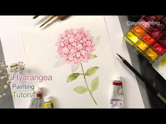 How to paint a hydrangea for beginners | Easy painting tutorial