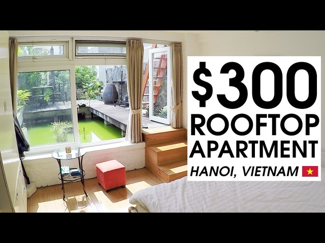 $300 TINY ROOFTOP APARTMENT TOUR in HANOI   LIFE IN VIETNAM