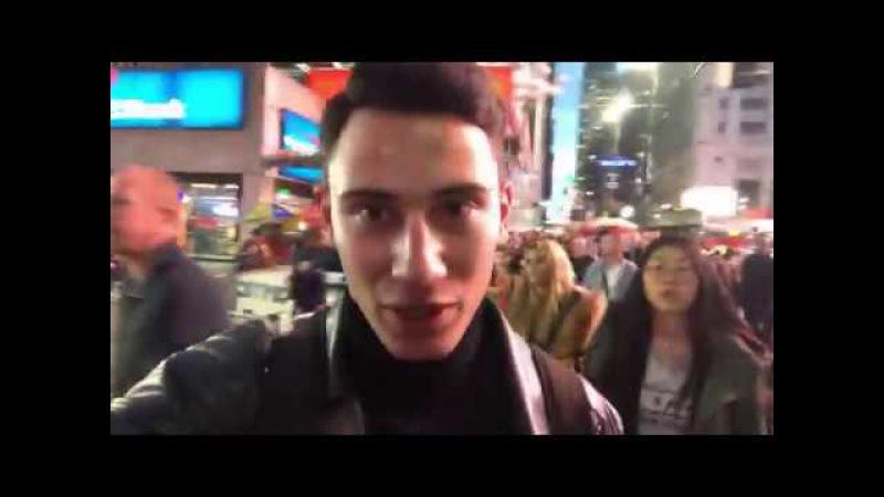 PRO100SAM vlog: PART1 Поездка в NYC с Аллой Костромичевой (участник шоу Топ Модель по Украин...