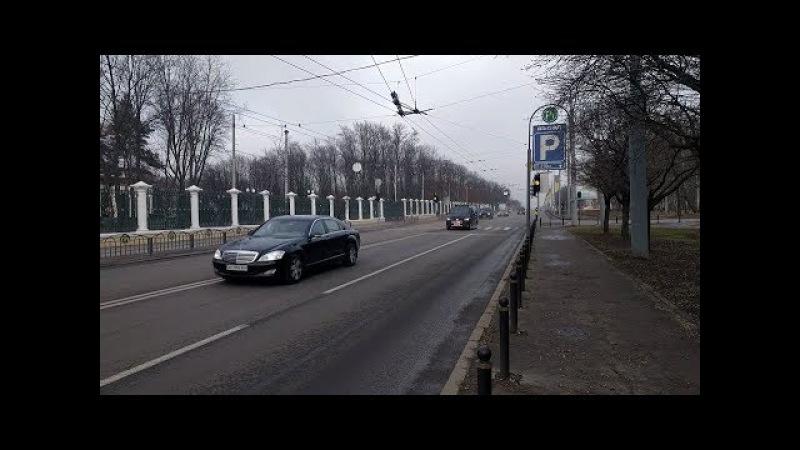 50 км/ч? Кортеж Анджея Дуды и Петра Порошенко в Харькове