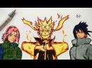 Drawing Naruto, Sasuke Sakura (Team 7)
