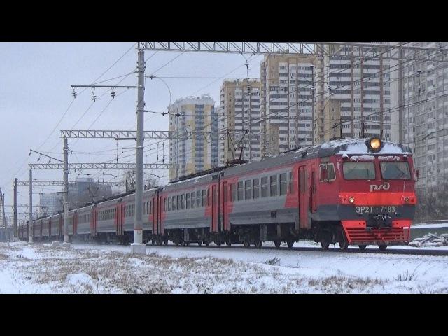Электропоезд ЭР2Т 7183 с приветливой бригадой