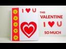 Handmade Valentine Pop Up Card DIY Valentine I Love You Card lovepop cards Lina's Craft Club