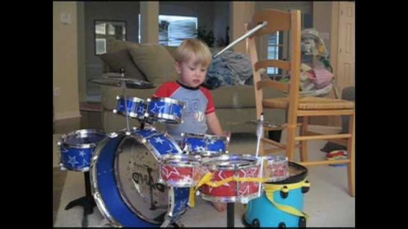 The Early Years of child drummer LOGAN ROBOT GLADDEN from Age 1 through Kindergarten