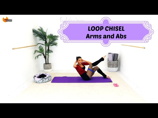 Arms and Abs Mat Pilates Barre Workout - BARLATES BODY BLITZ Loop Chisel Arms and Abs