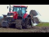Ploughing  Case IH Puma 225 cvx on Soucy Tracks &amp Kverneland LO100 vario plow  De Nood