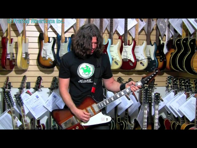 4th of July FIREWORKS WITH HD PHIL X ! 1964 Gibson Firebird VII 01136
