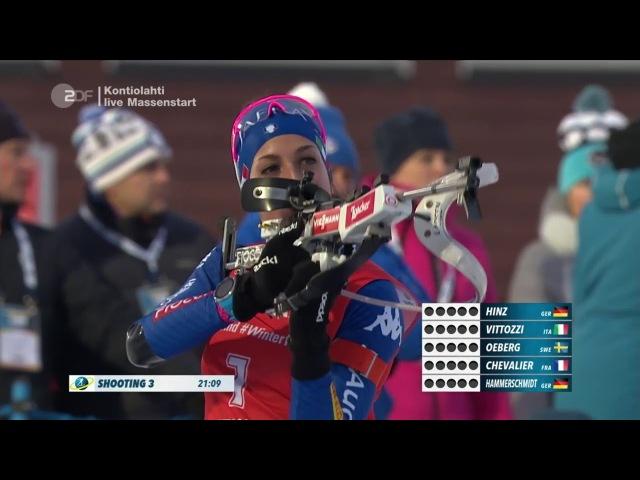 Vanessa Hinz 1. Weltcupsieg Kontiolahti 12,5 km Massenstart - 11.03.18