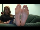 Tall blond girl big feet size12