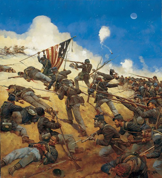 a survivors recollection of the events of the 1864 bloody war on fort wagner Civil war news current events monthly donned a four bastioned fort badge after its adoption in july 1864 knows i want this war to end wagner.