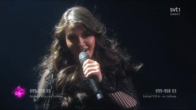 Felicia Olsson Break That Chain Microphone Only Melodifestivalen 2018