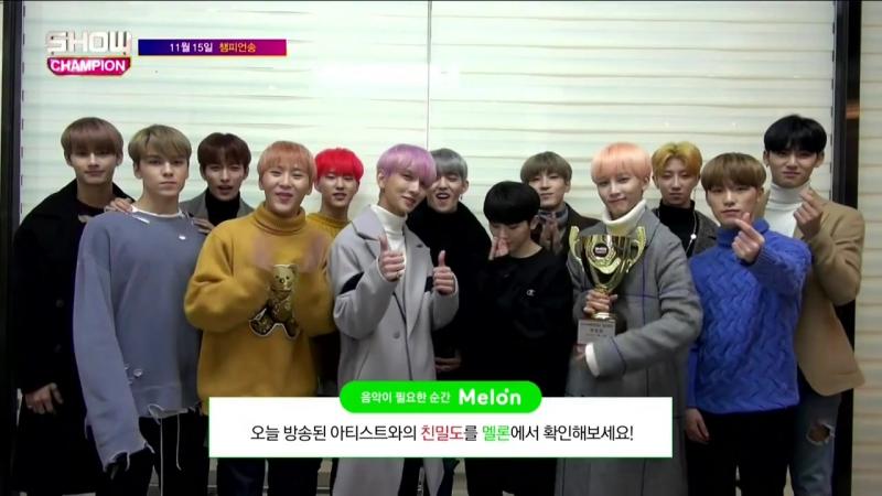 [171115] Seventeen (세븐틴) @ Clap 1st Win @ MBC Show Champion