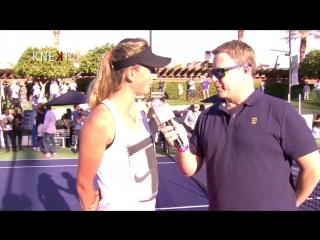 Pre match interview with tennis player victoria azarenka - desert smash