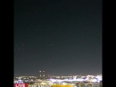 What is that These strange lights appeared in the sky over downtown Milwaukee Tuesday morningThe WITI-TV says it was just the li