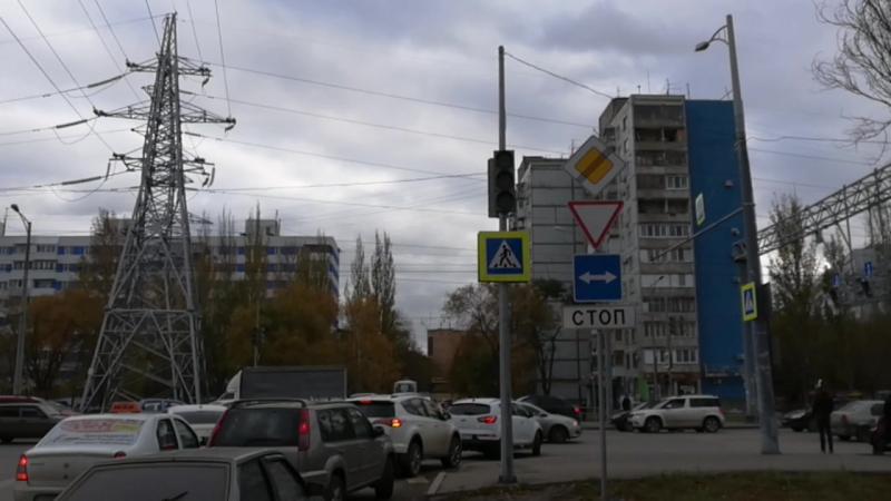 Не работает НИ ОДИН светофор! Московское шоссе, Самара, 23.10.2017