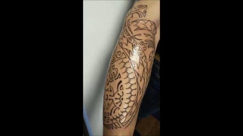 Контур. Фрихенд. (Rinline tattoo)