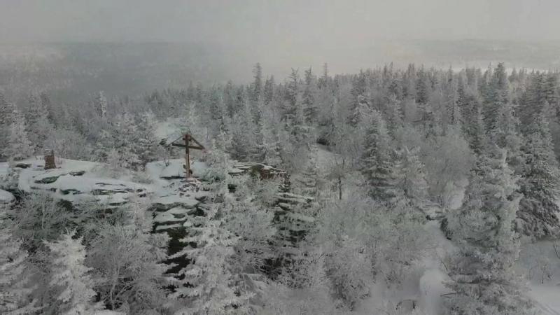 Гора Бахмур с воздуха