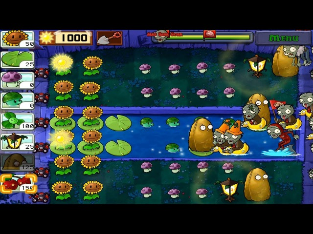Plants vs. Zombies Adventure level 4-4 Fog (Android Gameplay HD) Ep.34
