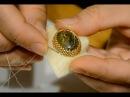 Как сделать оправу для кабошона бисером Оплетение кабошона на тканевой основе