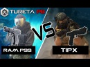 RAM P99 vs TiPX ► Duelo de Pistoleiros CQB Milsim Adrena Paintball