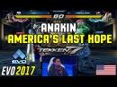 Anakin's Last Stand | TEKKEN 7 @ EVO 2017 - Anakin (Jack-7) vs. Taisei (Steve) Loser Quarter-Finals