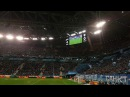Перформанс с фонариками на матче Зенит-Тосно