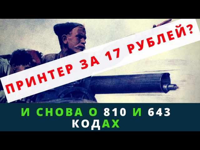 Андрей Топорков про принтер за 17 руб. 19 копеек и кодах 810 и 643 | Возрождённый СССР Сегодня