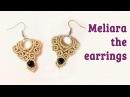 Macrame earrings tutorial: The Meliara jewelry set - hướng dẫn thắt hoa tai bằng dây