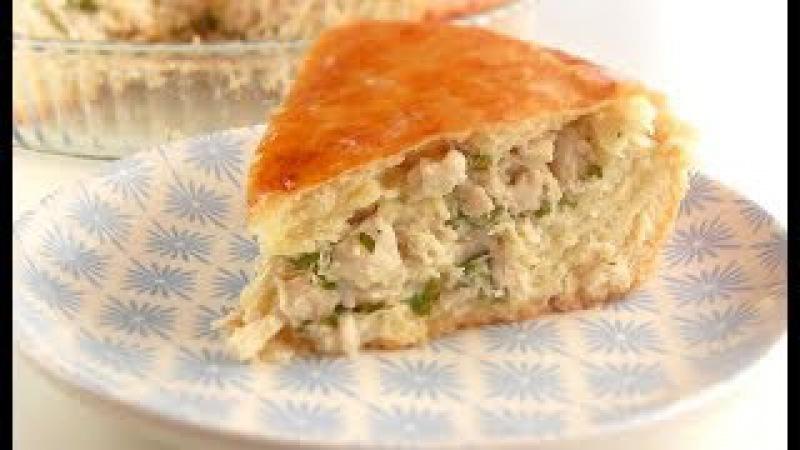 Мясной Пирог с Нежным Соусом/ Тесто дрожжевое на сметане