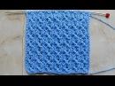 Узор из ажурных дорожек Вязание спицами Видеоурок 238
