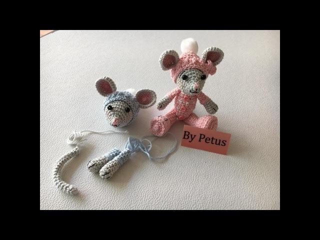 Como tejer gorro, brazos y cola Ratón amigurumi By Petus SEGUNDA PARTE