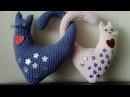 Валентинка сердечные котики ч 1 Valentine heart cats р 1 Amigurumi Crochet