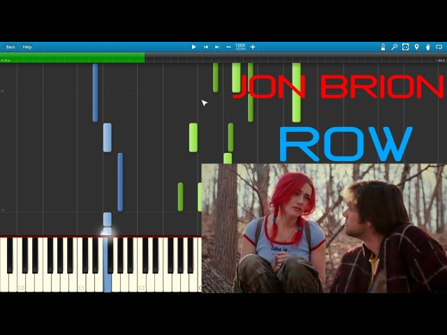 JON BRION - ROW ( ETERNAL SUNSHINE OF... ) [PIANO TUTORIAL] (SYNTHESIA) cover by Pianolivo
