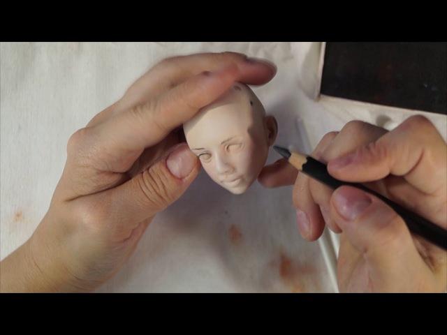 Шарнирная кукла своими руками с нуля часть 17 Макияж