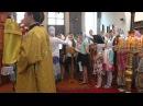 Литургия знаменным и византийским распевом г Губкин 24 мая 2015