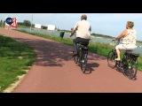 Ride on the Rijnwaalpad cycle route Nijmegen-Arnhem NL (real-time)