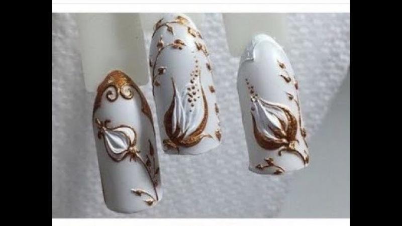 Идеи за маникюр с гел паста - 3D ефект ✔ 3D nail art with GEL PASTE✔NEW NAIL ART COMPILATION