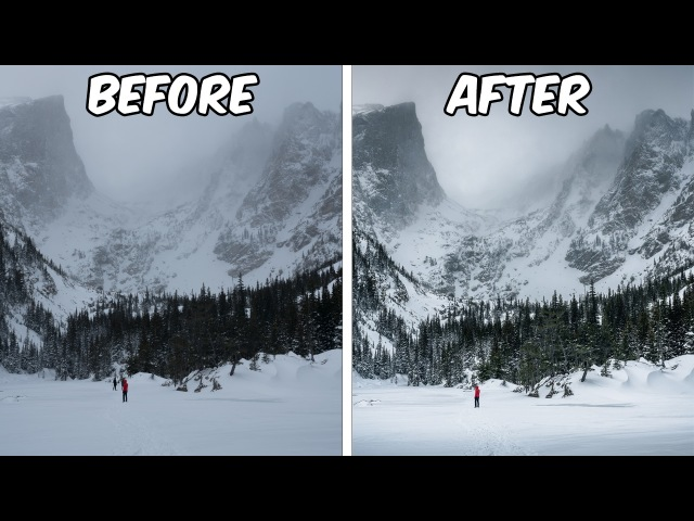How To Turn a Boring Snowy Landscape Photo Into an AMAZING Picture with Adobe Lightroom CC
