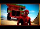 Мультики про Машинки с Человек Паук и Супергерои Цветные Машины и Большие Грузовики для Детей