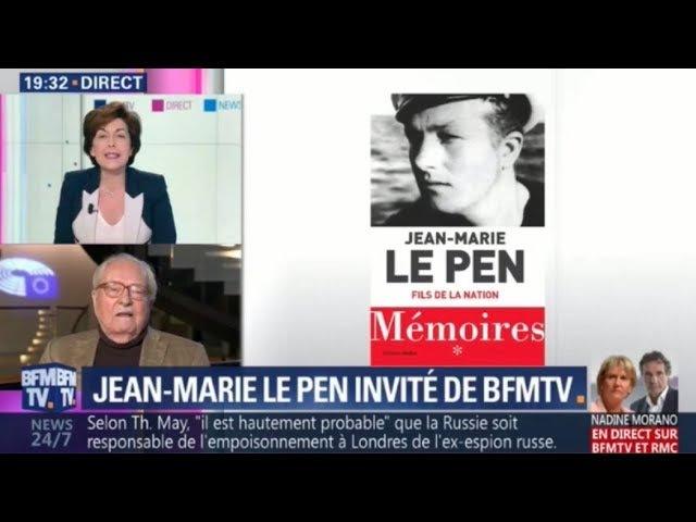 Jean-Marie Le Pen - 19h Ruth Elkrief sur BFMTV