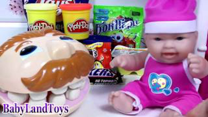 Bad Baby Magic Kitchen Play Doh Surprises / Learn Colors Song Johny Johny Yes Papa ❤ BLT TV